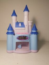 Disney Princess Cinderella Castle Dancing Storyteller Light-Up Alarm Clock blue