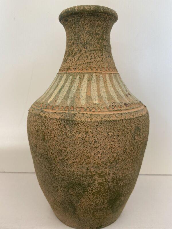 Rough Textured Vessel ~ Rustic Primitive Style~ Unglazed Art Pottery