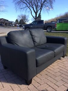 Love seat with ottoman