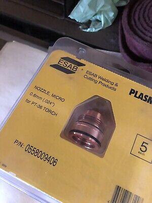 Esab Micro Nozzle 0.6mm Pt-36 Torch 0558009406