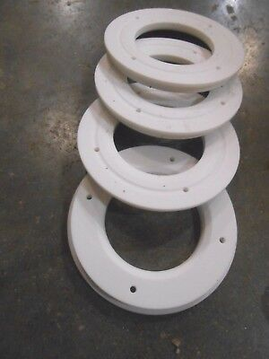 """4 PACK TEFLON WASHER 1//8 THK X 1//4 ID X1/"""" OD  FREE SHIPPING MADE IN THE USA"""