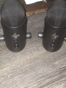 2 blacked out blue yeti USB multi channel mics Cambridge Kitchener Area image 1