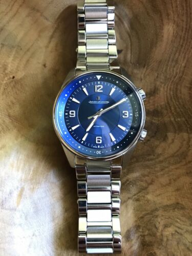 Jaeger LeCoultre Polaris Automatic Blue on Bracelet Q9008180 FREE SHIPPING - watch picture 1
