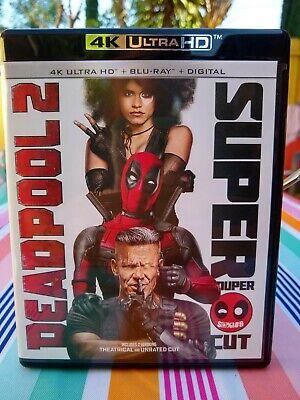 Deadpool 2 4K Ultra HD Blu-ray 4-disc set w/ Slipcover * Like New*