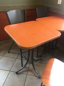 Restaurant/cafe chairs and tables