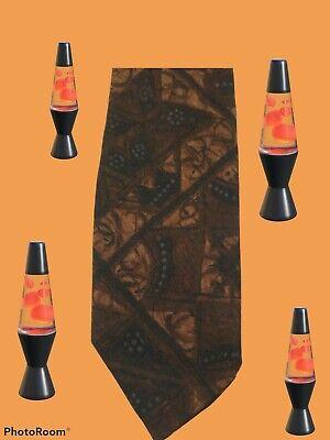 1960s – 70s Men's Ties | Skinny Ties, Slim Ties Vintage Mens Fremacs Rare Brown Gold Geometric Skinny Thin Tie 51