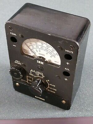 Vintage Ibm Computer Mini-multimeter Vom - For Parts Or Display Not Working