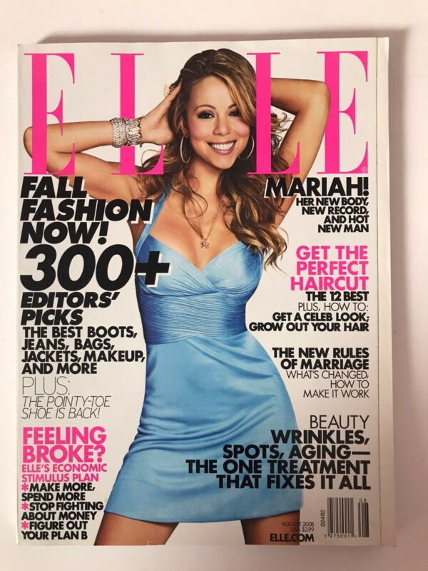 **MARIAH CAREY USA ELLE MAGAZINE AUGUST 2008 - GREAT CONDITION**