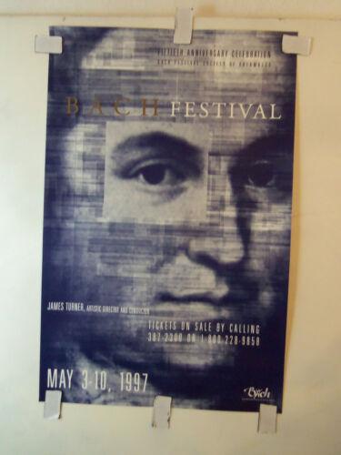 1997 POSTER 15th Ann. JOHANN SEBASTIAN BACH FESTIVAL Kalamazoo JAMES TURNER