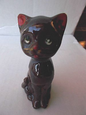 "Vintage Ceramic Redware 4"" CAT Japan"
