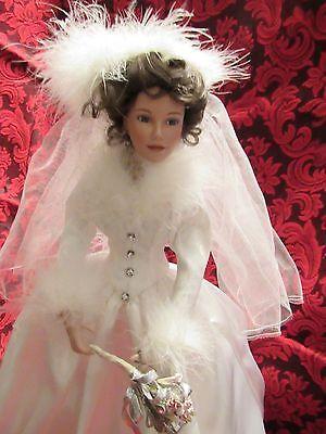 Ashton Drake Porcelain Bride Doll Winter Romance By Sandra Bilotto W /Box & COA