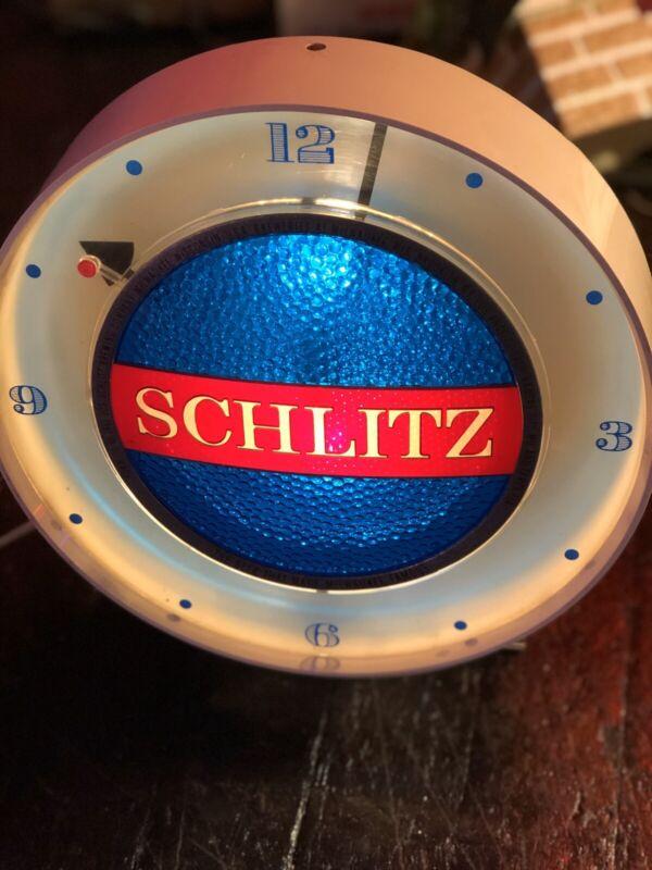 Vintage Schlitz Motion Beer Clock Sign