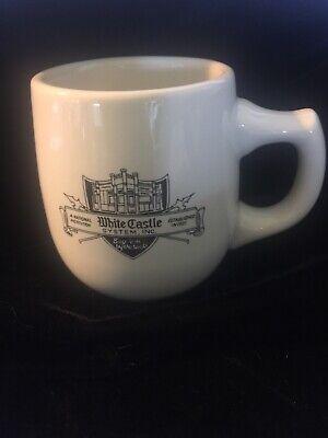Vintage White Castle Hamburger Ceramic Coffee Mug Cup Ashtray Bottom No Marking