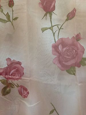 Cute Shower Curtain (Rose Floral Flowers Shower Curtain Set with Vinyl Liner Plastic and Hooks,)