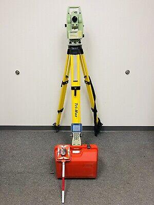 Leica Tcra1103 Plus Survey Robotic Total Station W Tripod Prism Pole