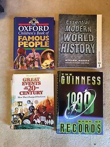 Bulk Set 4 Retro Encyclopedia Guinness Book History Events Record Scoresby Knox Area Preview