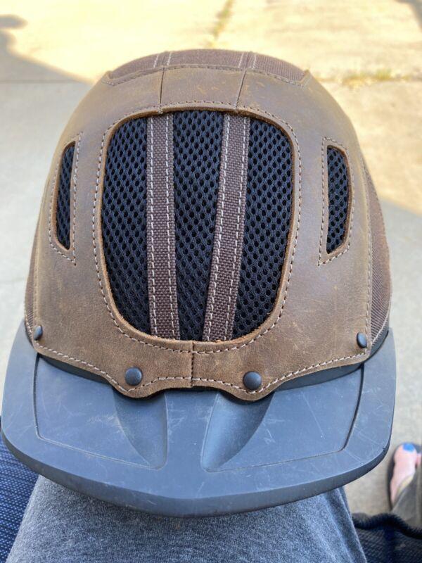 Troxel Sierra Brown Trail Rider Helmet Adjustable Straps, Size Med.