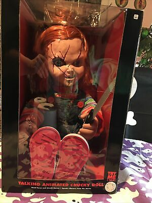 Animated Talking Chucky Doll w/Knife ~ BRIDE OF CHUCKY Movie ~ 2019 New in Box