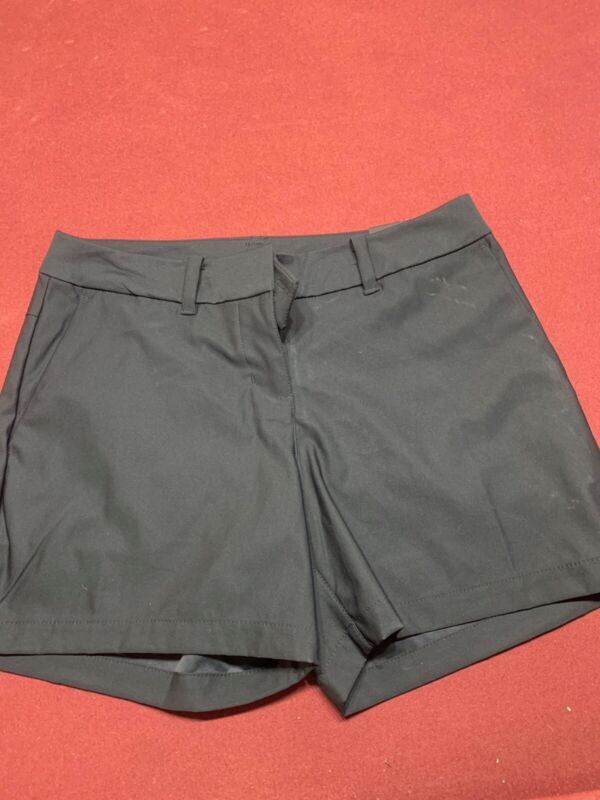 new with tags black nike flex womens golf shorts size 2