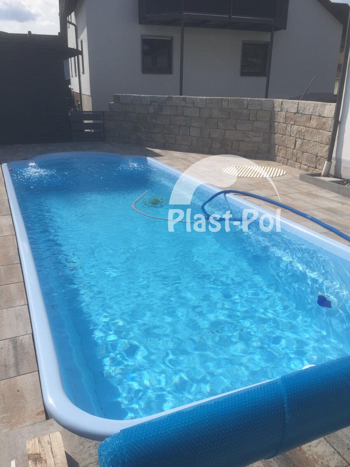 Gfk schwimmbecken swimming pool 10 00x3 20x1 50 for Fertigbecken pool