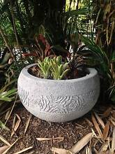 Large concrete pot round with roses carving Brisbane Region Preview