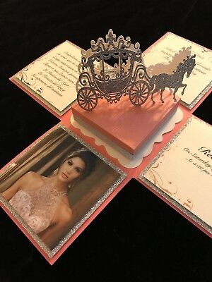 - QUINCEAÑERA, SWEET 16, WEDDING OR ANY OCCASION, EXPLODING BOX INVITATION