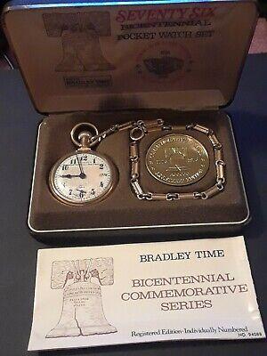 1776 - 1976 BRADLEY TIME: VINTAGE BICENTENNIAL POCKET WATCH