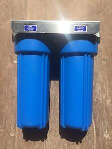 "Water Filter Blue Twin 10"" x 2.5"" Outdoor System Yeppoon Yeppoon Area Preview"