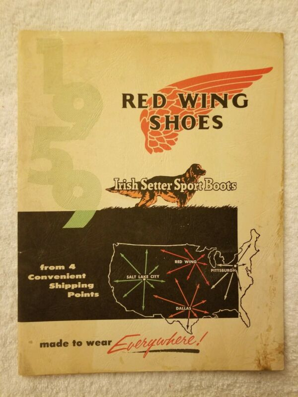 Red Wing Shoes Shoe Catalog for 1959