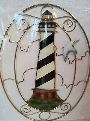 Capiz Suncatcher - Capiz Shell Lighthouse Suncatcher 5.5