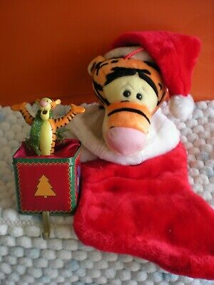 Disney plush Tigger Christmas Holiday Stocking and Hanger