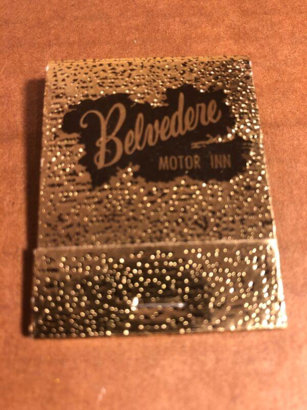 Belvedere Motor Inn, Vintage Matchbook, Lexington Park, Maryland, New