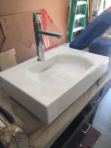Beautiful, Italian made bathroom sink and faucet