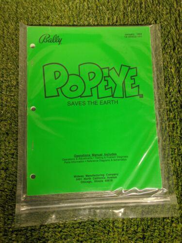 Popeye Saves the Earth by Bally Pinball Manual