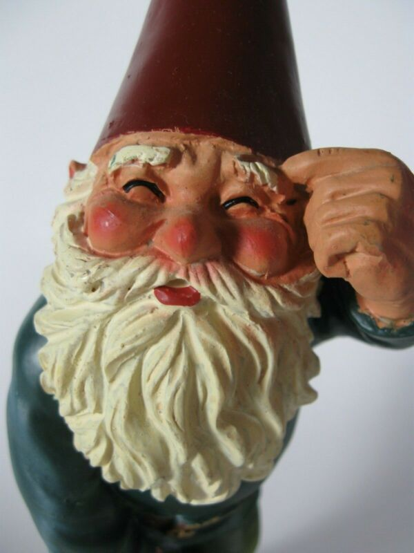 """NWT Herman the Gnome Rien Poortvliet Thinking Figure 9"""" Tall"""