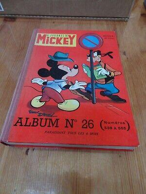 Le Journal De Mickey Album Reliure Recueil N°26  01/1963 n°539 à 555