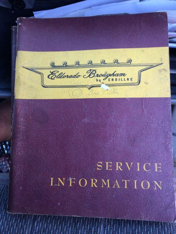 1958 Cadillac Eldorado Brougham Service Manual Original
