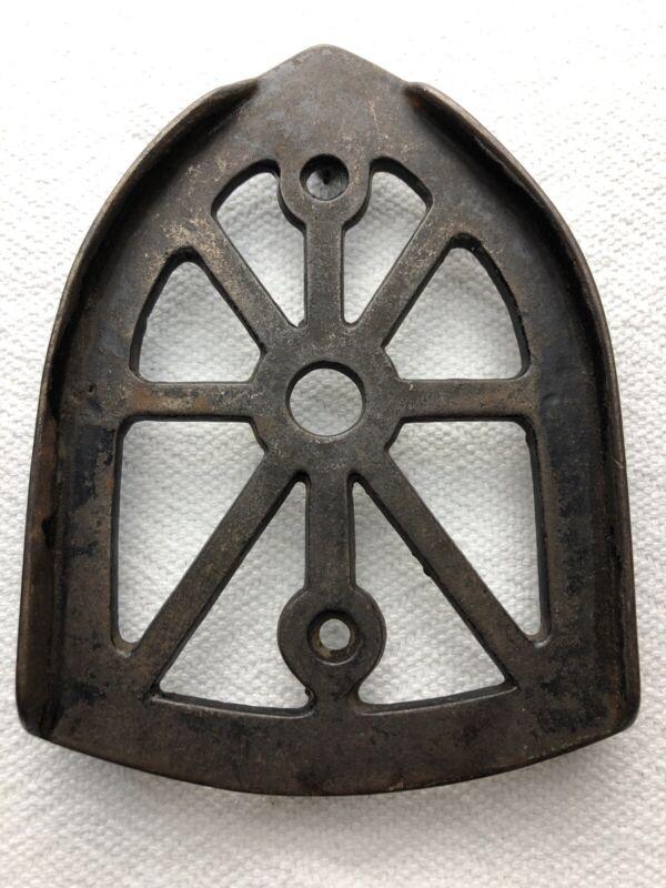 Original Vintage Cast Iron Sad Iron Trivet Rest Ironing