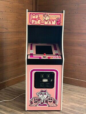 New Pink Ms. PacMan Arcade Machine, Upgraded