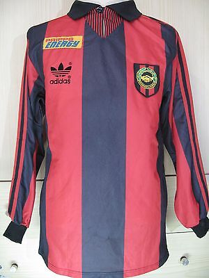 BROMMAPOJKARNA IF SWEDEN 1990 ADIDAS MATCH WORN SOCCER JERSEY FOOTBALL SHIRT S image