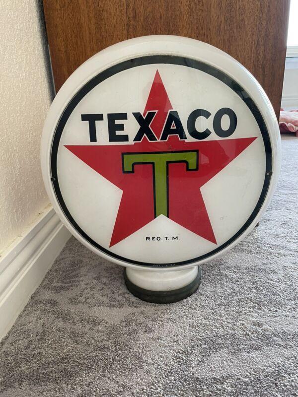 Vintage 1937 Texaco Gas Pump Globe Hull Body