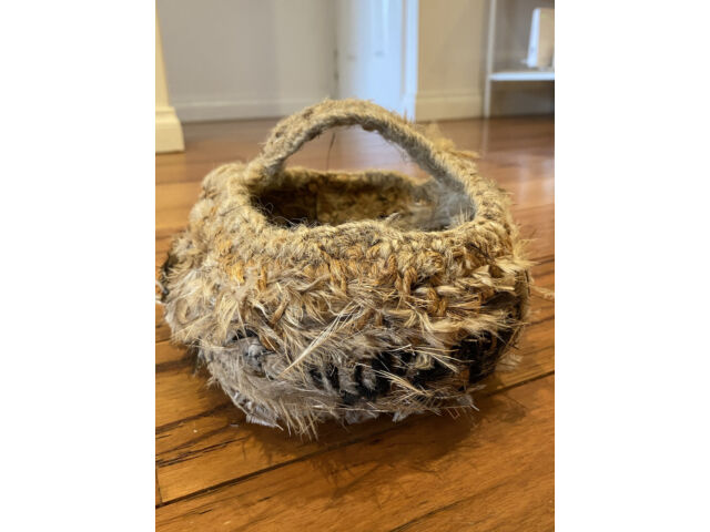 Tjanpi Woven Emu Feather Basket