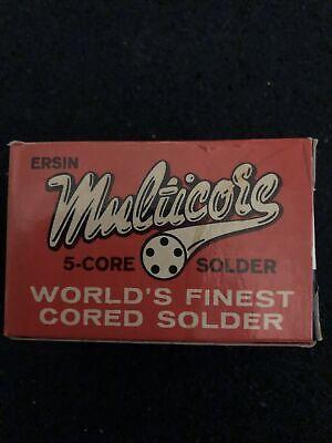 Vintage Ersin Multicore 6040 5 Core Solder 20 S.w.g. Tv Radio 1 Lb .91 Mm