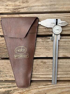 Helios Fowler Dial Caliper 52-025-007 - .001 W Case 7 Inch