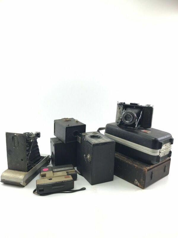 Assorted Lot Of 9 Vintage Cameras- Kodak, Bonny, Brownie- 3779