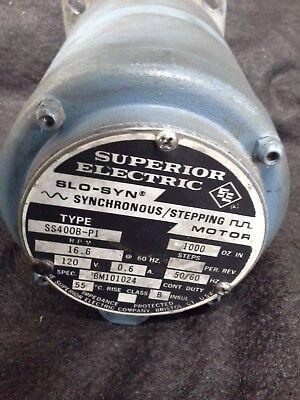 Superior Electric Slo-syn Stepping Motor Ss400b-pi 120v 16.6 Rpm 12 Shaft