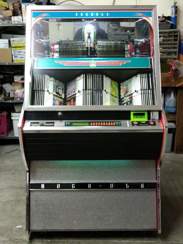 Rock-Ola FIREBALL Nostalgia CD Bubbler Style Jukebox - Loaded with 100 CD