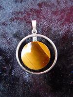 Bella Ciondolo__835 Argento__con Occhio Di Tigre __2,5cm -  - ebay.it