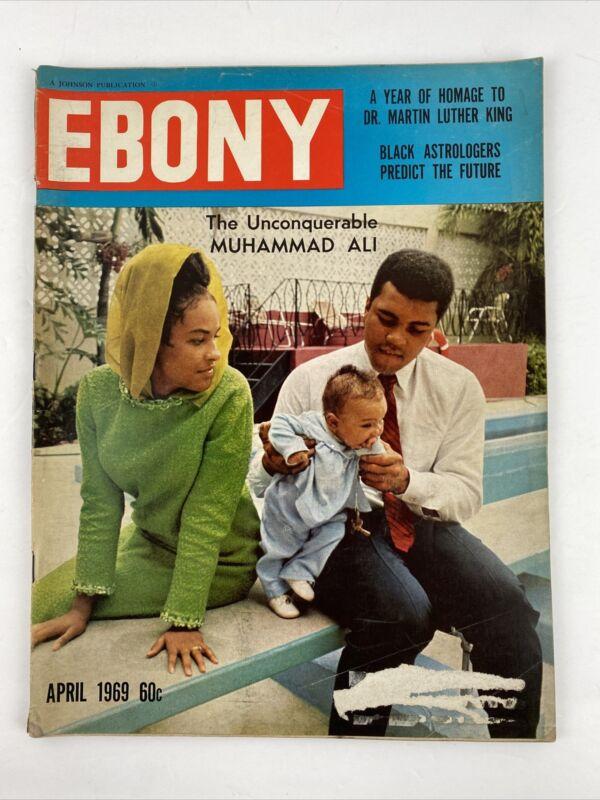 EBONY MAGAZINE MUHAMMAD ALI UNCONQUERABLE APRIL 1969 VINTAGE Martin Luther King