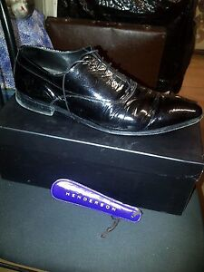 HENDERSON-LEATHER-LACE-UP-BLACK-SHOES-FRANCESINA-PELLE-NERA-100-MADE-IN-ITALY